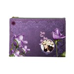 Elegance-purple Cosmetic Bag (L)  - Cosmetic Bag (Large)