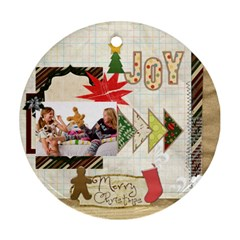Merry Christmas By Betty   Round Ornament (two Sides)   D4iunvv04a2y   Www Artscow Com Front