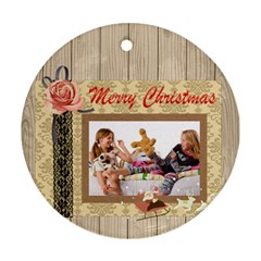 Merry Christmas By Betty   Round Ornament (two Sides)   8t4dgumj2w40   Www Artscow Com Front