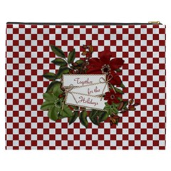 Christmas Clusters Xxxl Cosmetic Bag 1 By Lisa Minor   Cosmetic Bag (xxxl)   Bl651dzxajmw   Www Artscow Com Back