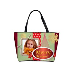 Merry Christmas By Joely   Classic Shoulder Handbag   E267zsey2loh   Www Artscow Com Front