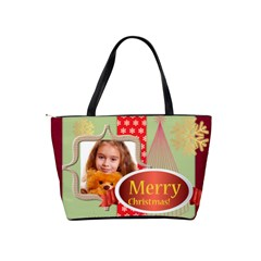 Merry Christmas By Joely   Classic Shoulder Handbag   E267zsey2loh   Www Artscow Com Back