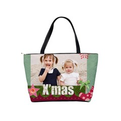 Merry Christmas By Joely   Classic Shoulder Handbag   9ak4p6q3mg3n   Www Artscow Com Back