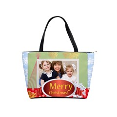 Merry Christmas By Joely   Classic Shoulder Handbag   Eouragyczxii   Www Artscow Com Front