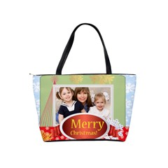 Merry Christmas By Joely   Classic Shoulder Handbag   Eouragyczxii   Www Artscow Com Back