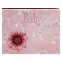 Watch Me Grow Girl Xxxl Cosmetic Bag 1 By Lisa Minor   Cosmetic Bag (xxxl)   937rbmcm3gc6   Www Artscow Com Back