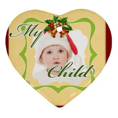 Merry Christmas By Betty   Heart Ornament (two Sides)   6rrmjp5kurx7   Www Artscow Com Front