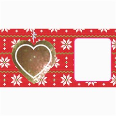 10 Christmas Cards 3 (hearts) Your Photo,text By Riksu   4  X 8  Photo Cards   Sr9fbfbsdb1k   Www Artscow Com 8 x4 Photo Card - 5