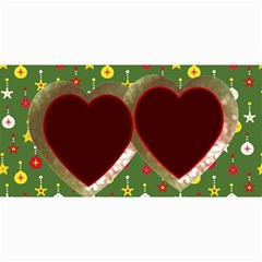 10 Christmas Cards 3 (hearts) Your Photo,text By Riksu   4  X 8  Photo Cards   Sr9fbfbsdb1k   Www Artscow Com 8 x4 Photo Card - 6