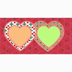 10 Christmas Cards 3 (hearts) Your Photo,text By Riksu   4  X 8  Photo Cards   Sr9fbfbsdb1k   Www Artscow Com 8 x4 Photo Card - 8