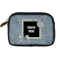 My Blue Inspiration Camera Bag By Lisa Minor   Digital Camera Leather Case   Iiby4f0zfxiv   Www Artscow Com Front