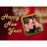 Happy New Year 3D Circle Card - Circle 3D Greeting Card (7x5)