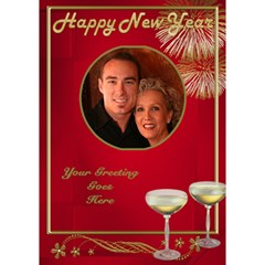 Happy New Year 3d Circle Card By Deborah   Circle 3d Greeting Card (7x5)   A2sat683oxcb   Www Artscow Com Inside