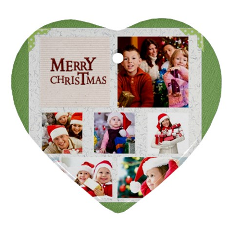 Christmas By Mac Book   Ornament (heart)   T24hcyh1kaum   Www Artscow Com Front