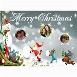 Santa and snowman Christmas card - 5  x 7  Photo Cards