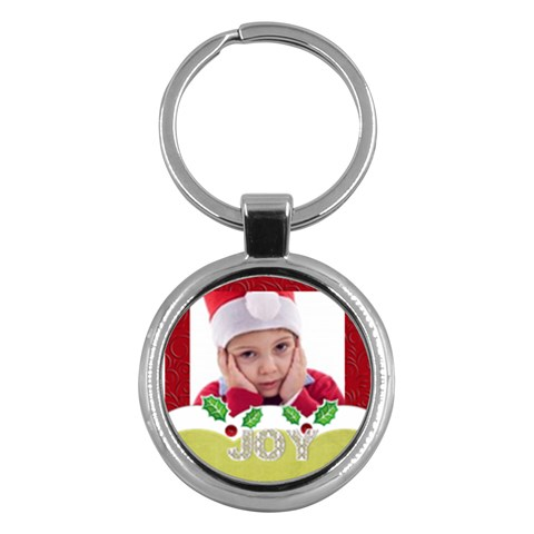 Merry Christmas By Jacob   Key Chain (round)   Tidezu327smv   Www Artscow Com Front