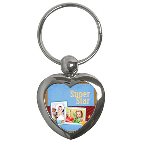 Merry Christmas By Mac Book   Key Chain (heart)   3de6cg8kqqk9   Www Artscow Com Front