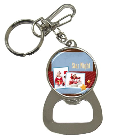 Merry Christmas By Mac Book   Bottle Opener Key Chain   Kghf976v6hkj   Www Artscow Com Front