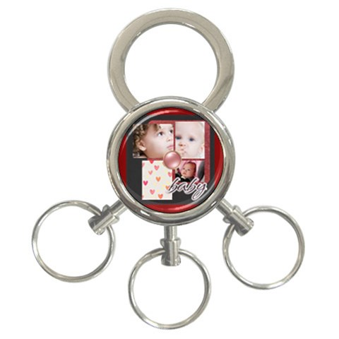 Merry Christmas By Mac Book   3 Ring Key Chain   R52s3zkzyuwd   Www Artscow Com Front