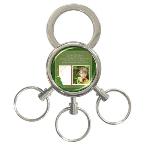 Merry Christmas By Mac Book   3 Ring Key Chain   5biu3wyhdq6a   Www Artscow Com Front