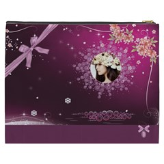Winter Story By Joanne5   Cosmetic Bag (xxxl)   K75c0ilym0jz   Www Artscow Com Back