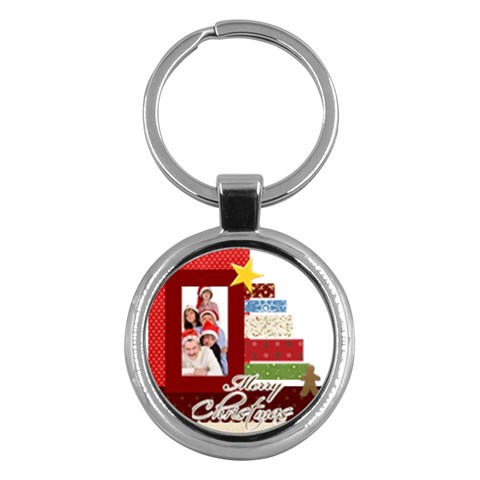 Merry Christmas By Betty   Key Chain (round)   Xb600pyx8wvj   Www Artscow Com Front