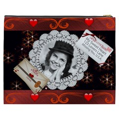 Sweetheart Cosmetic Bag (xxxl) By Kim Blair   Cosmetic Bag (xxxl)   Uuy2fv26a9g4   Www Artscow Com Back