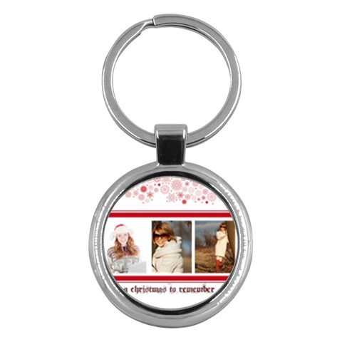 Merry Christmas By May   Key Chain (round)   Gax23jlhirgl   Www Artscow Com Front