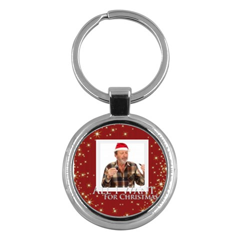 Merry Christmas By May   Key Chain (round)   Hea430lhrccj   Www Artscow Com Front