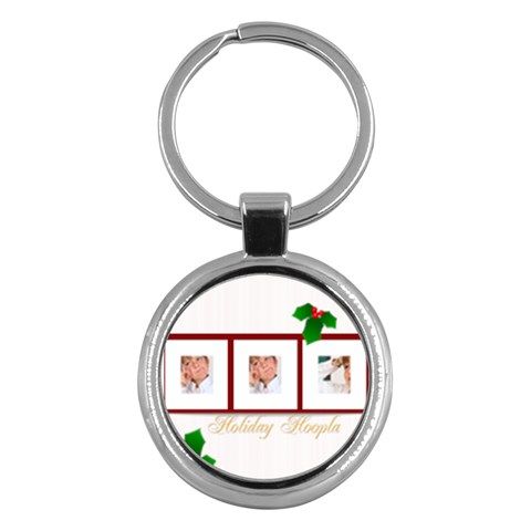 Merry Christmas By May   Key Chain (round)   Xzop6kjgvp94   Www Artscow Com Front