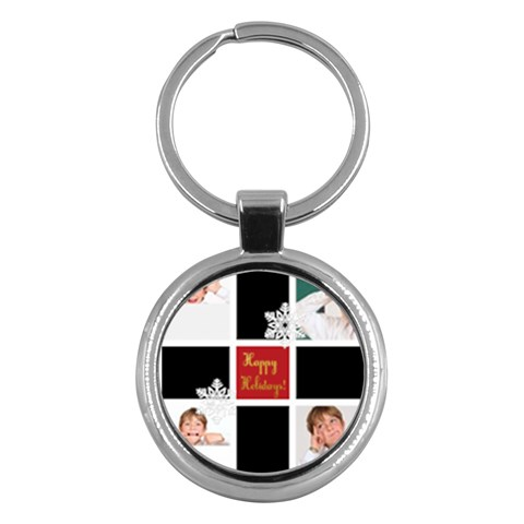 Merry Christmas By May   Key Chain (round)   Jz9umwptv62s   Www Artscow Com Front
