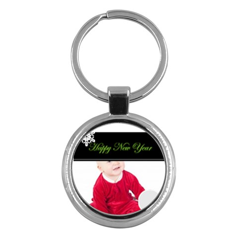 Merry Christmas By May   Key Chain (round)   K85l28l3bzyz   Www Artscow Com Front