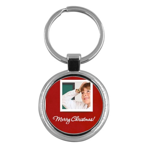 Merry Christmas By May   Key Chain (round)   Inuw3fo5wpo5   Www Artscow Com Front