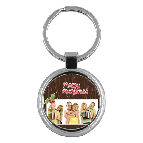 Merry Christmas By May   Key Chain (round)   W8tla93kbfm4   Www Artscow Com Front