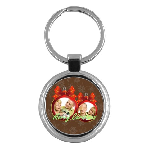 Merry Christmas By May   Key Chain (round)   Grktaep3fkso   Www Artscow Com Front