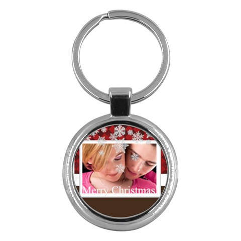 Merry Christmas By May   Key Chain (round)   1wrls2up54l0   Www Artscow Com Front
