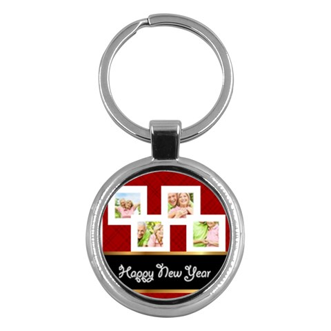 Merry Christmas By May   Key Chain (round)   Ap8etzxjozsb   Www Artscow Com Front