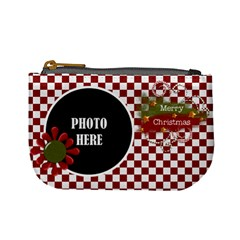 Christmas Clusters Coin Bag 1 By Lisa Minor   Mini Coin Purse   09u158r1r0l1   Www Artscow Com Front