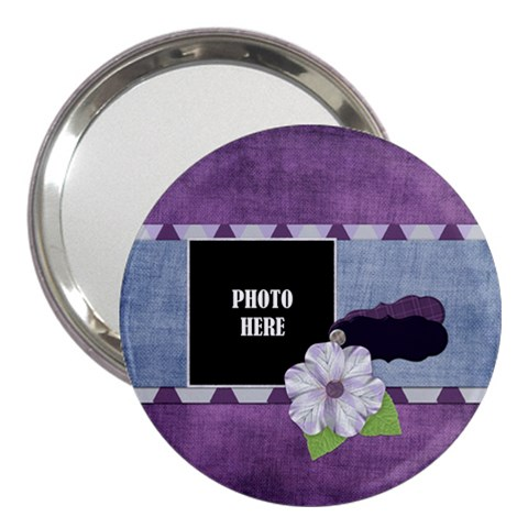 Lavender Rain 3  Handbag Mirror 1 By Lisa Minor   3  Handbag Mirror   Mtpy7kurkknw   Www Artscow Com Front