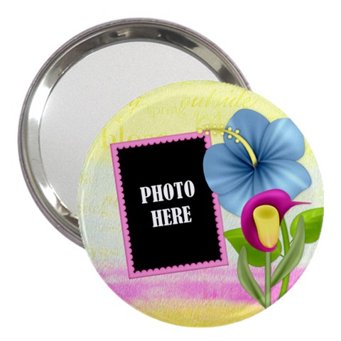 Eggzactly Spring 3  Handbag Mirror 1 By Lisa Minor   3  Handbag Mirror   R9utyp1dcxlp   Www Artscow Com Front