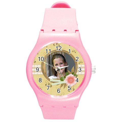 Amore Plastic Watch 1 By Lisa Minor   Round Plastic Sport Watch (m)   D8ltjfnr1nzw   Www Artscow Com Front