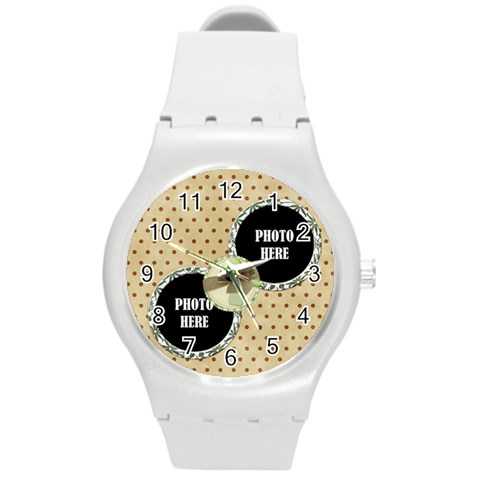 September 365 Plastic Watch 1 By Lisa Minor   Round Plastic Sport Watch (m)   Iz4jrn9xc0km   Www Artscow Com Front