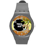 Dinosaur! Plastic Watch 1 - Round Plastic Sport Watch (M)