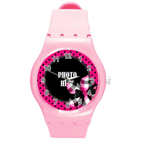 Bwp Plastic Watch 1 By Lisa Minor   Round Plastic Sport Watch (m)   3k7p5pi4ks7t   Www Artscow Com Front