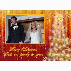 Red And Gold Sparkle Christmas Card By Kim Blair   5  X 7  Photo Cards   Qzjtzprqkle6   Www Artscow Com 7 x5 Photo Card - 1