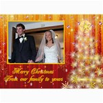 Red and Gold Sparkle Christmas Card - 5  x 7  Photo Cards