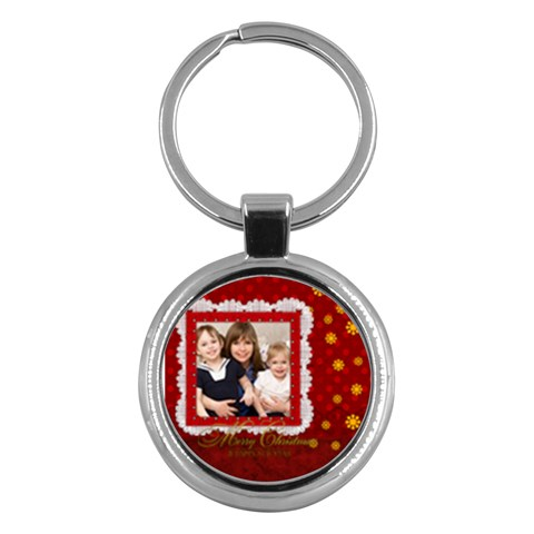 Merry Christmas By Joely   Key Chain (round)   X0wun8why7ny   Www Artscow Com Front