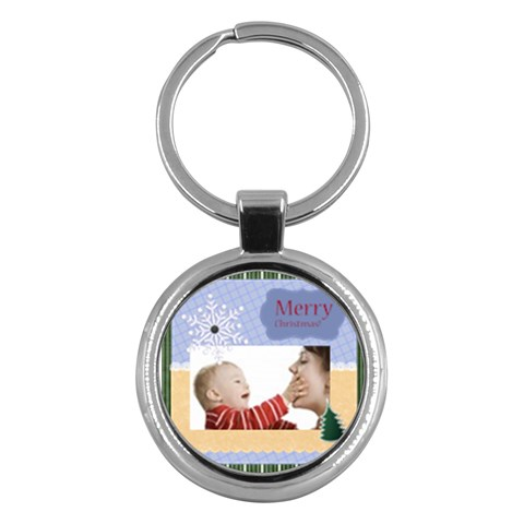 Merry Christmas By Joely   Key Chain (round)   K3ljdp36gmvf   Www Artscow Com Front