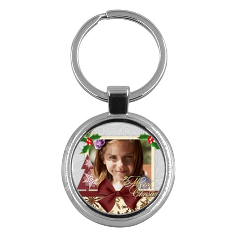 Merry Christmas By Joely   Key Chain (round)   Arybcth79qq7   Www Artscow Com Front