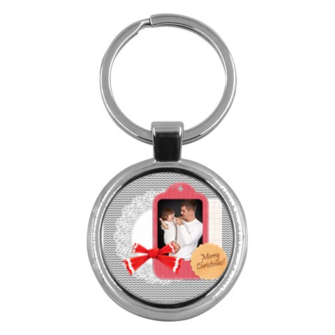 Merry Christmas By Jo Jo   Key Chain (round)   Xxn7sf5lo8to   Www Artscow Com Front